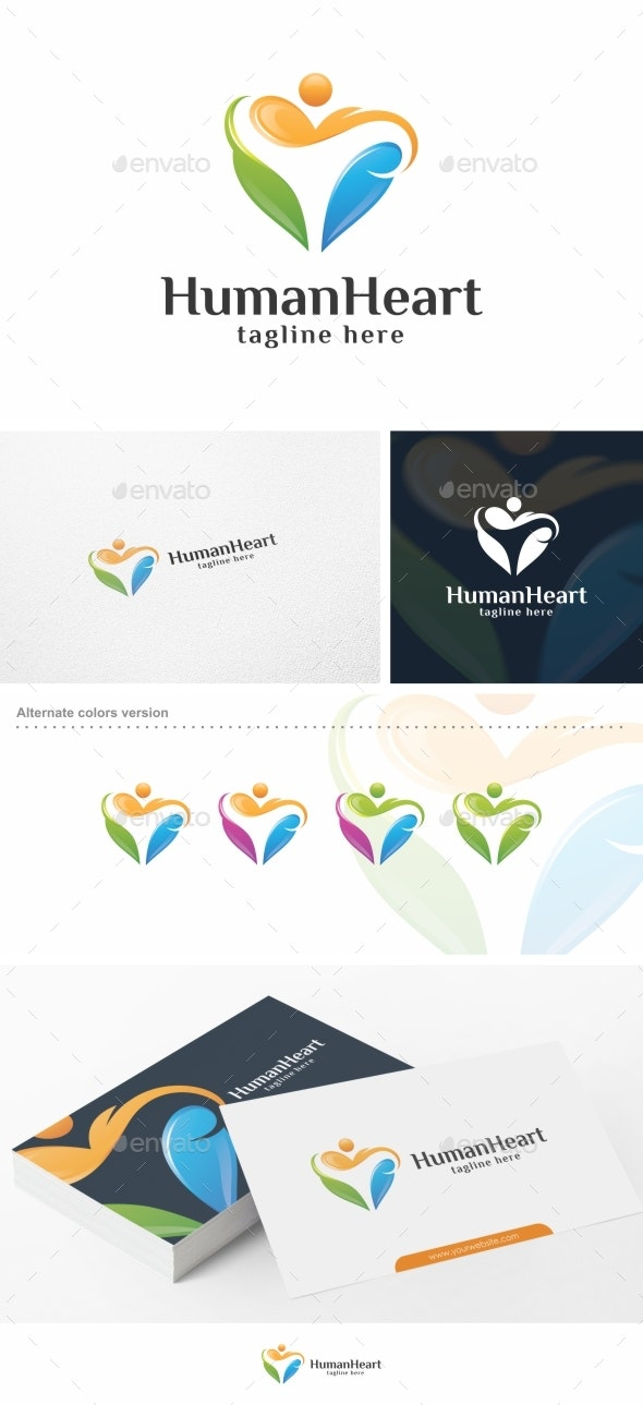 Human Heart - Logo Template