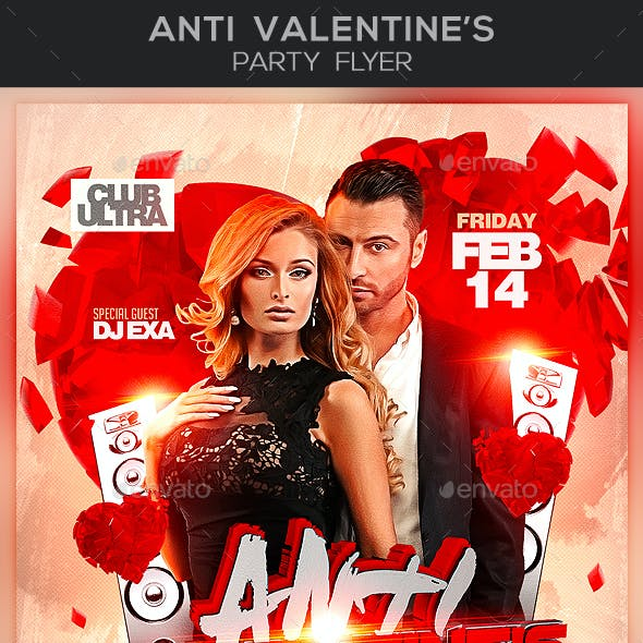 Anti Valentine's Party Flyer