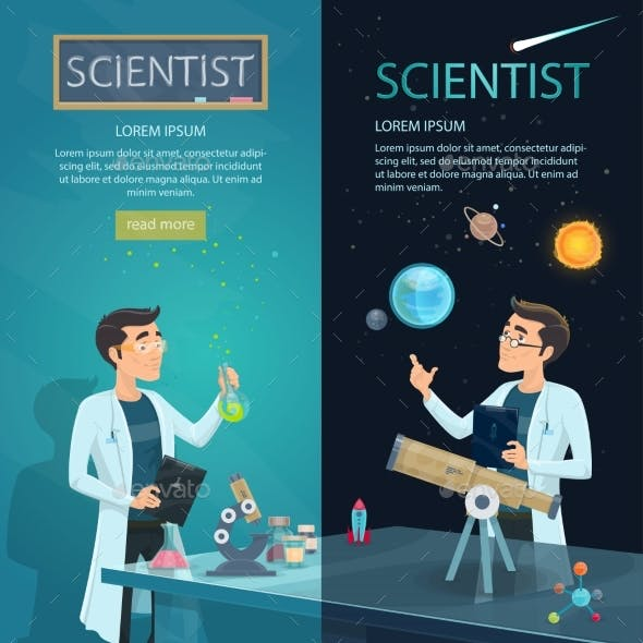 Scientific Vertical Banners