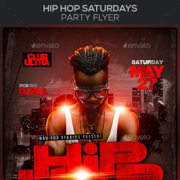 Hip Hop Saturdays Party Flyer