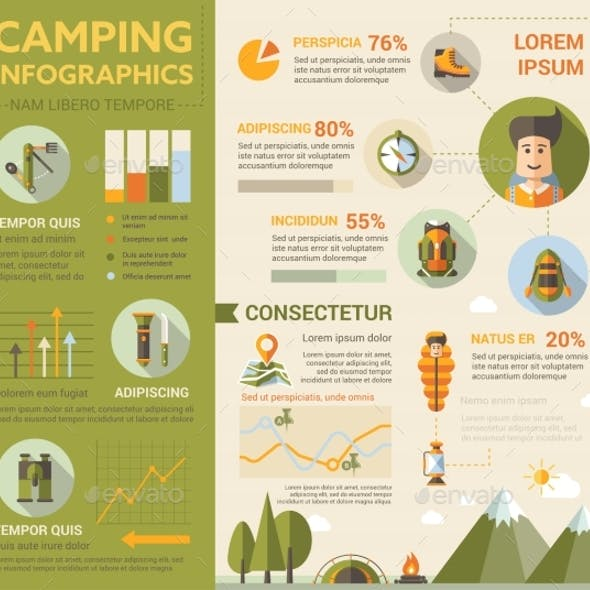 Camping Poster Brochure Cover Template