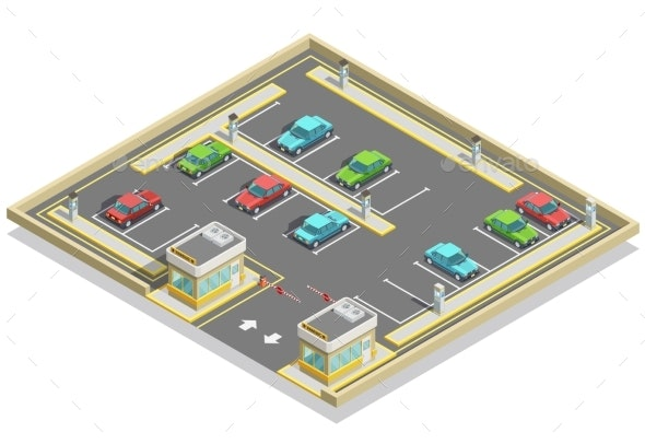 Parking Zone Isometric Location - Miscellaneous Conceptual