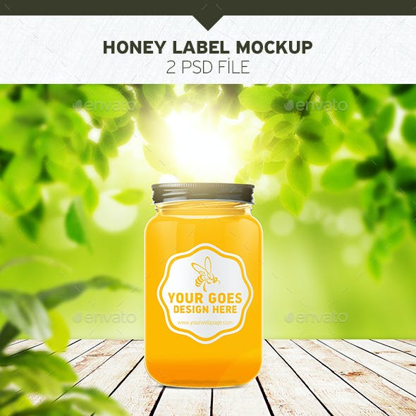 Honey Jar Label Graphics, Designs & Templates from GraphicRiver