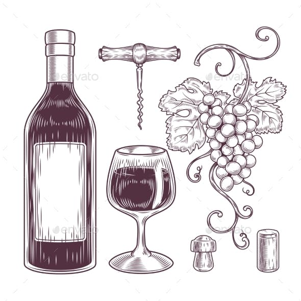 Collection of Wine Icons
