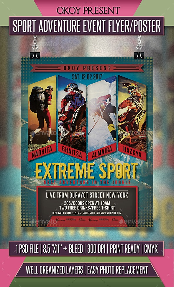 Sport Adventure Event Flyer / Poster - Events Flyers