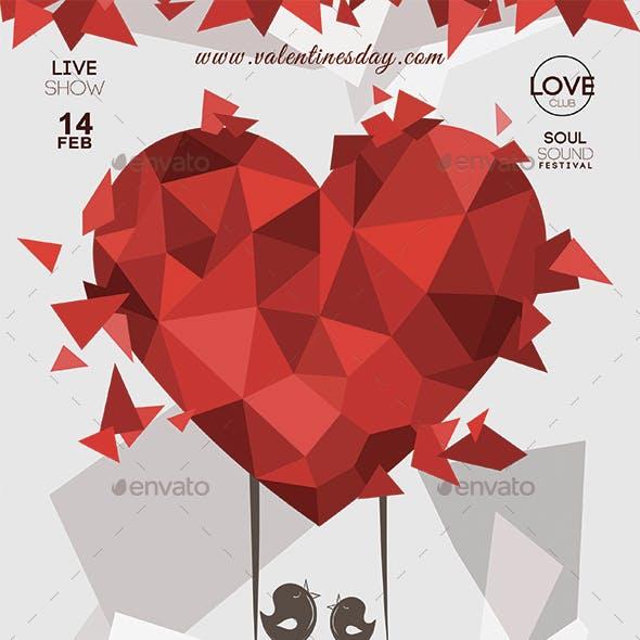 Valentines Day Lovers Flyer Vol 2
