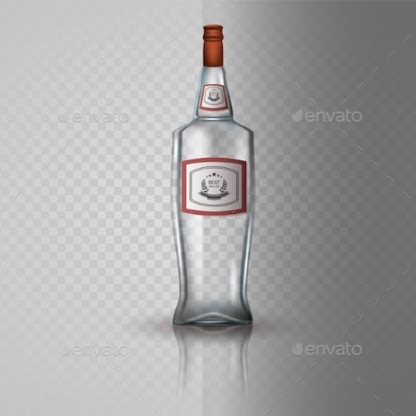 Glass Vodka Bottle with Screw Cap