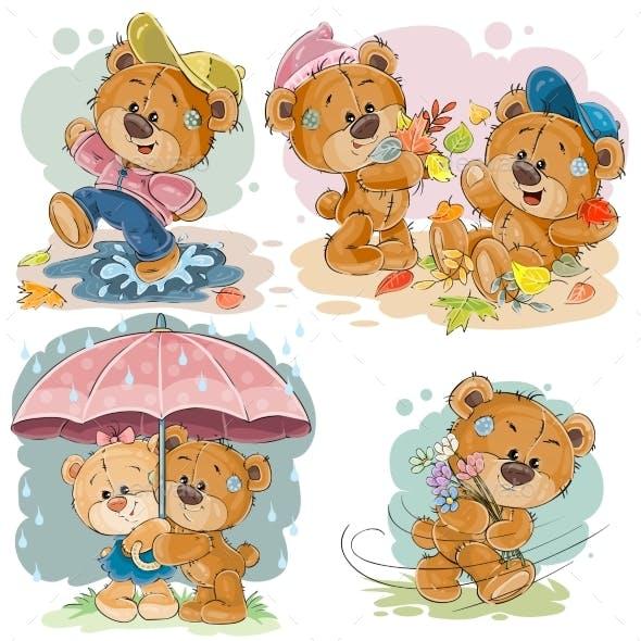 Clip Art Illustrations of Teddy