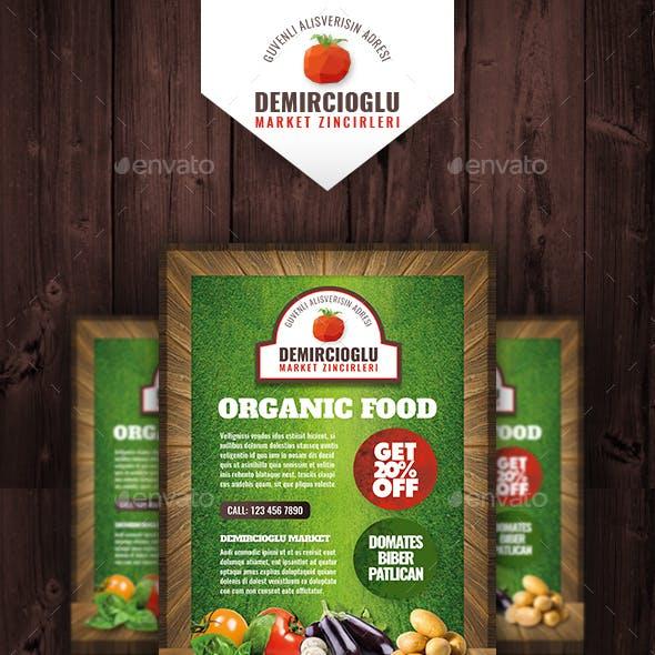 Organic Market Flyer Templates