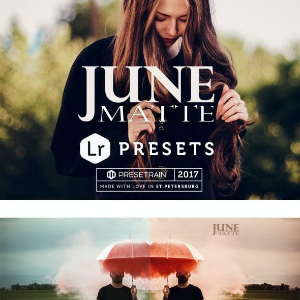 June Matte Lightroom Presets