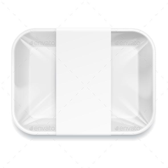 White Styrofoam Food Tray Pack