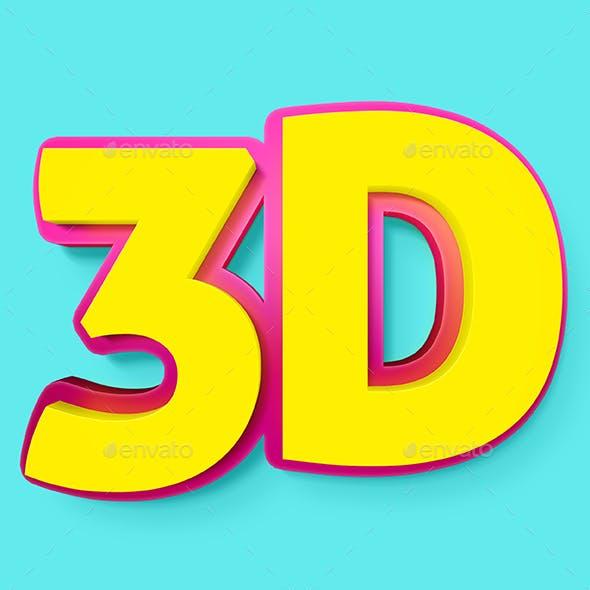 3D Text Cool