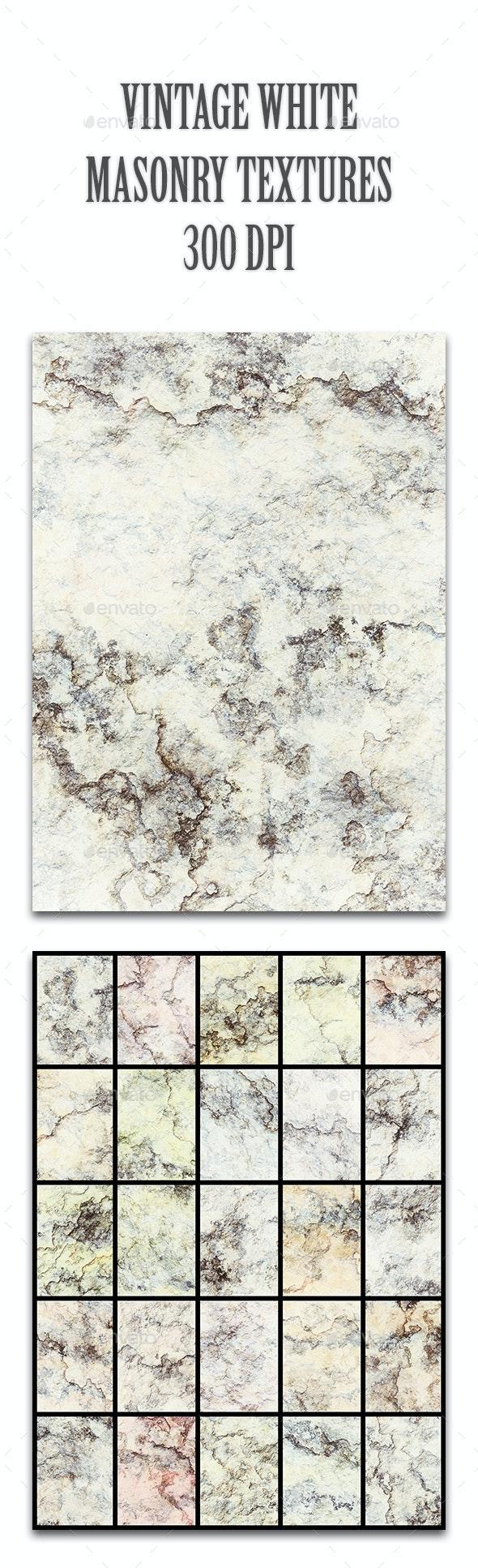 Vintage White Masonry Textures - Stone Textures
