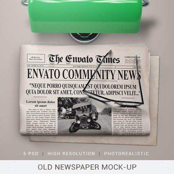Old Newspaper Mock-Up