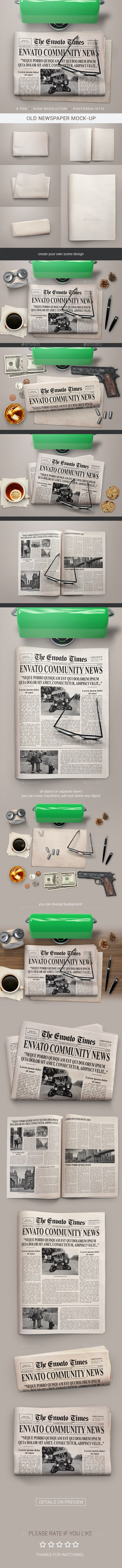 Old Newspaper Mock-Up - Miscellaneous Print