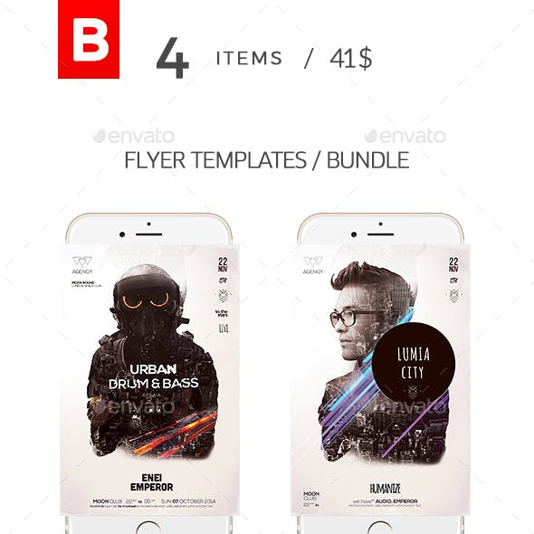 Double Exposure Flyer Bundle