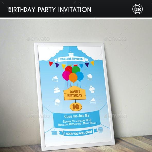Birthday Invitation & Post Card