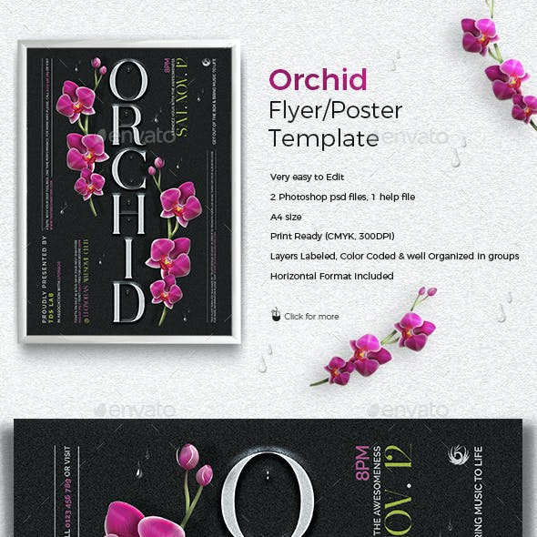 Orchid Flyer Template