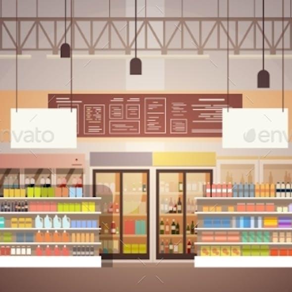 Big Shop Super Market Shopping Mall Interior