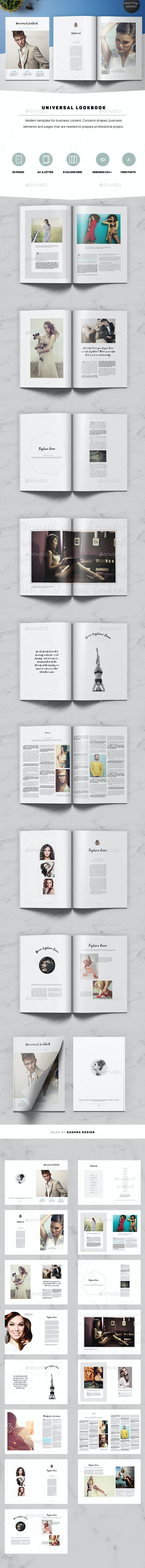 Universal Lookbook - Catalogs Brochures