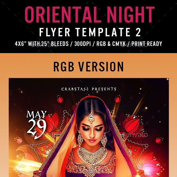 Oriental Night Flyer Template 2