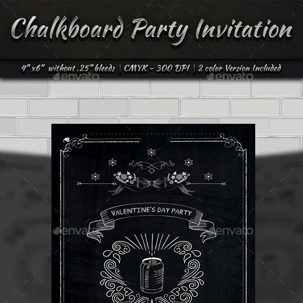 Chalkboard Party Invitation