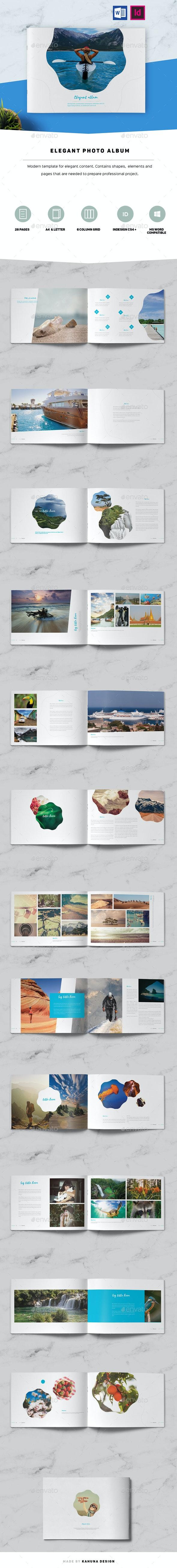Elegant Photo Album - Photo Albums Print Templates