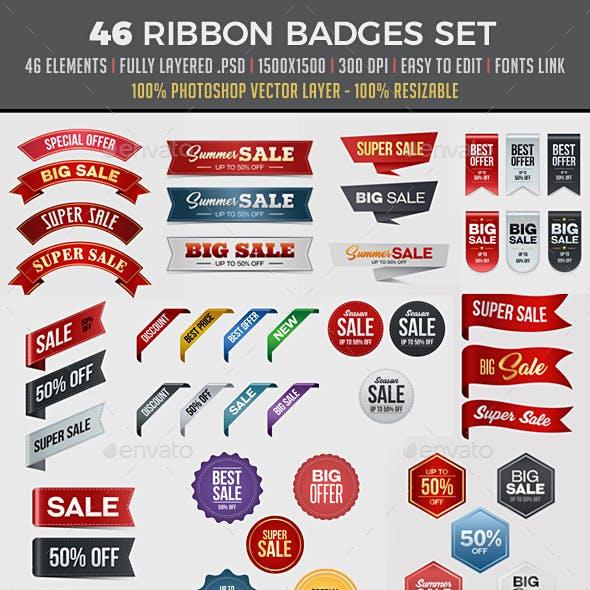 46 Sale Ribbon Set