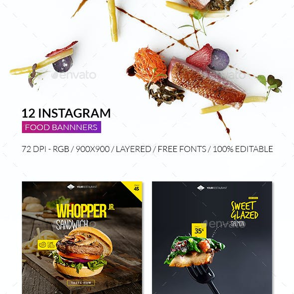 Food Instagram Promotional Template