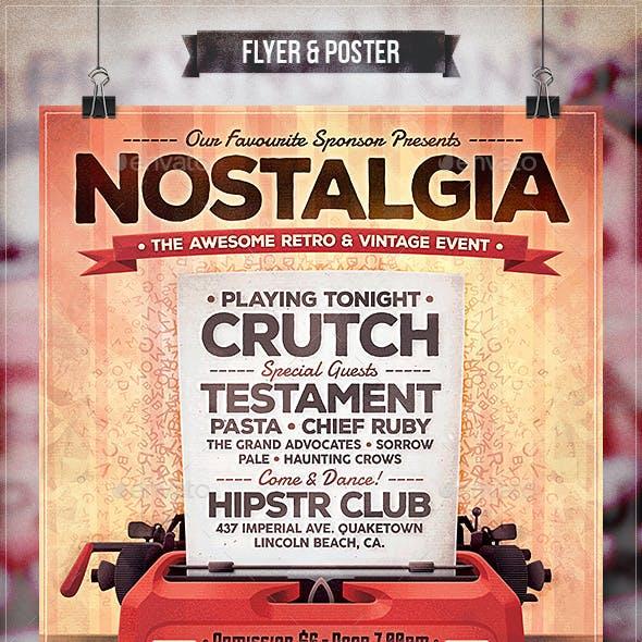 Nostalgia - Flyer & Poster