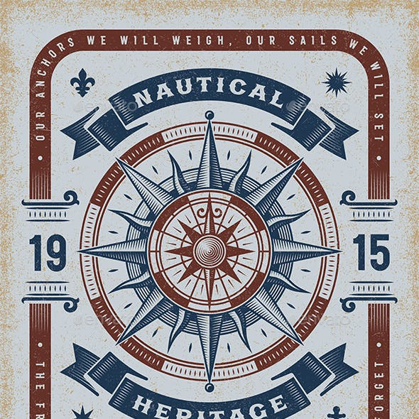 Vintage Nautical Heritage Typography
