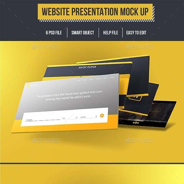 Website Presentation Mock Up