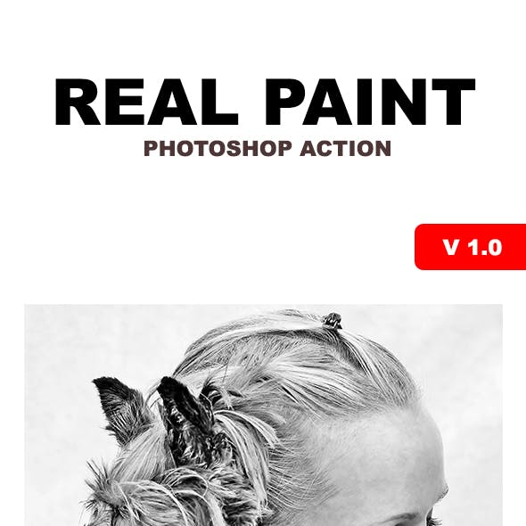 Real Paint - Photoshop Action #75