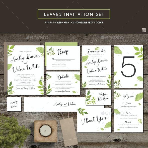 Leaves Invitation Set