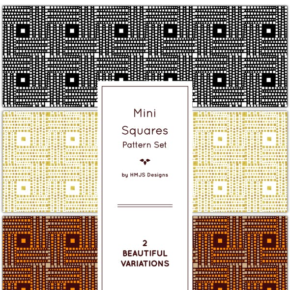 Mini Squares Pattern Set