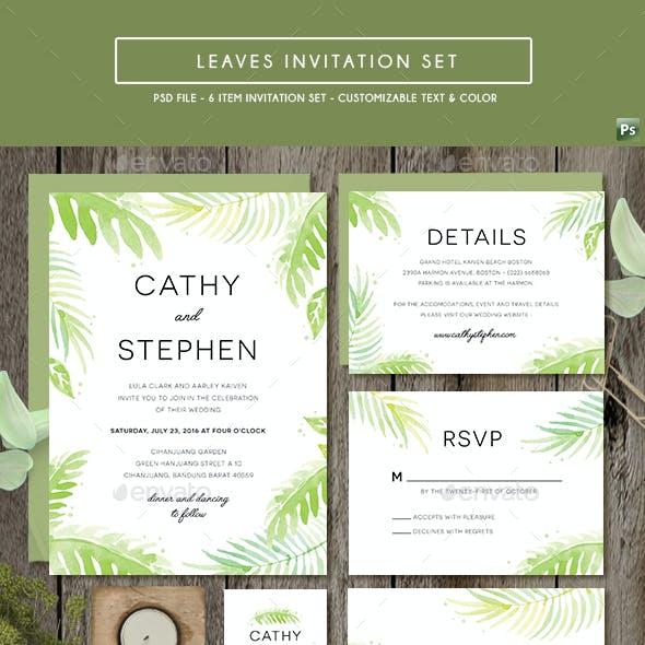 Leaves Invitation