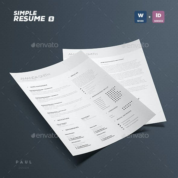 Simple Resume/Cv Volume 5