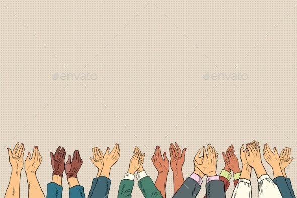 Applause Hands Up in Business Conference - People Characters