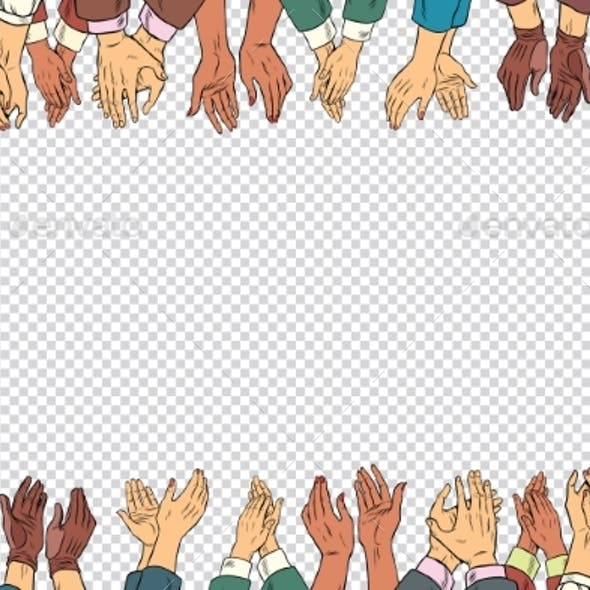 Clap Hands Frame a Business Concept, Applause
