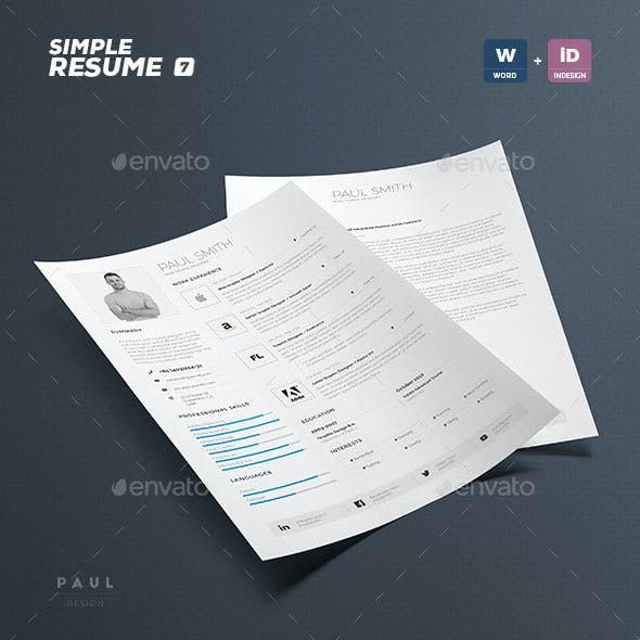 Simple Resume/Cv Volume 7