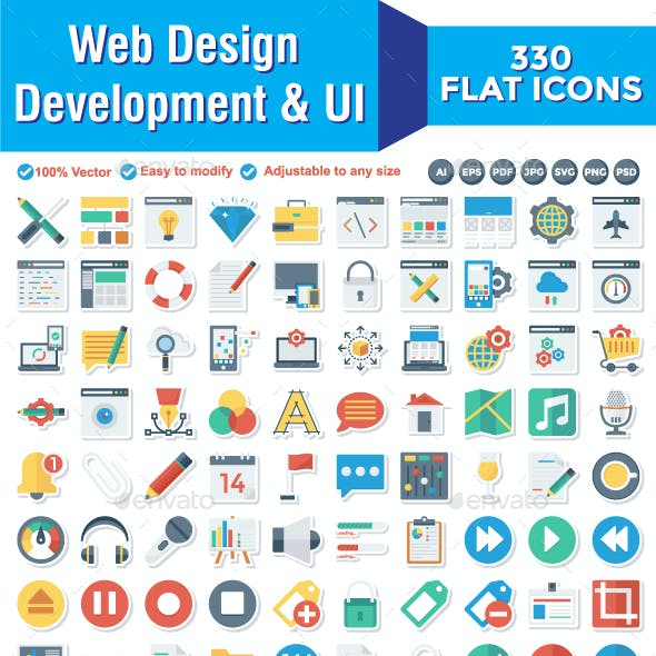 330 Web Design Development & UI  Paper icons
