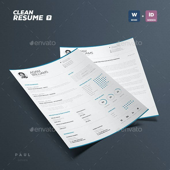 Clean Resume Vol. 7
