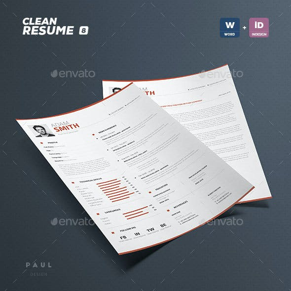 Clean Resume Vol. 8