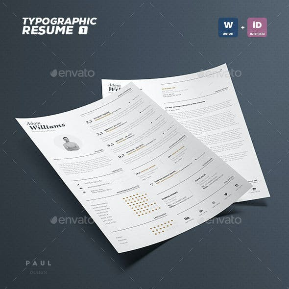 Typographic Resume Vol. 1