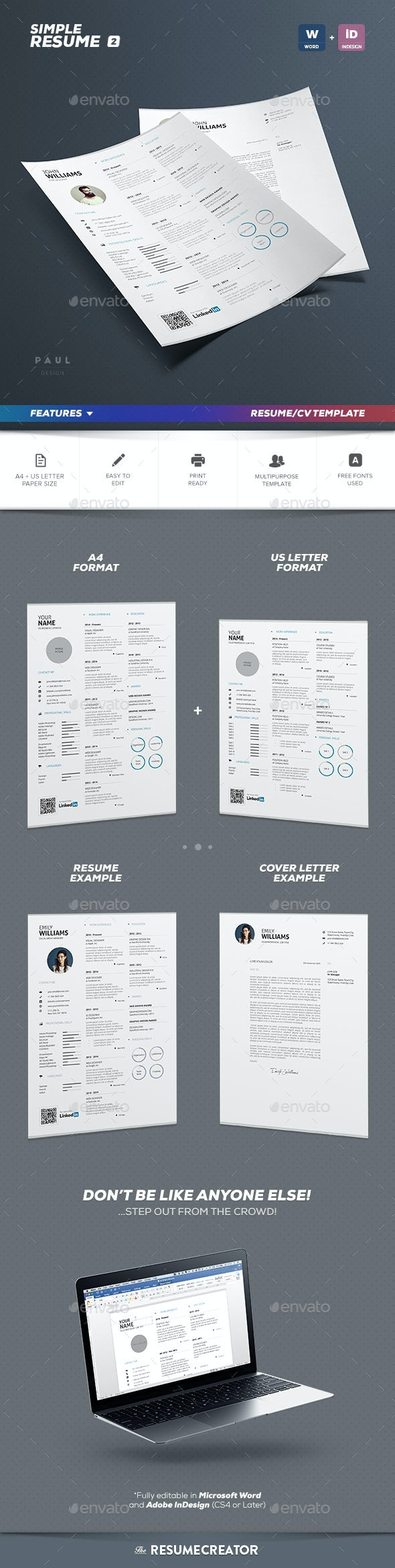 Simple Resume Vol. 2 - Resumes Stationery