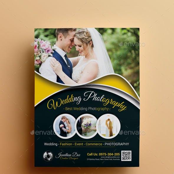 Dark Wedding Photography Flyer