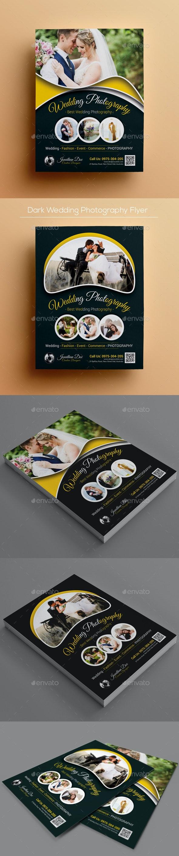 Dark Wedding Photography Flyer - Corporate Flyers