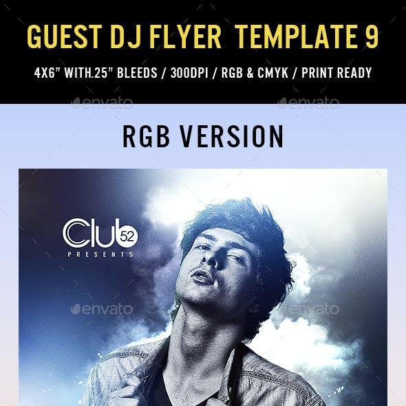 Guest DJ Flyer Template 9