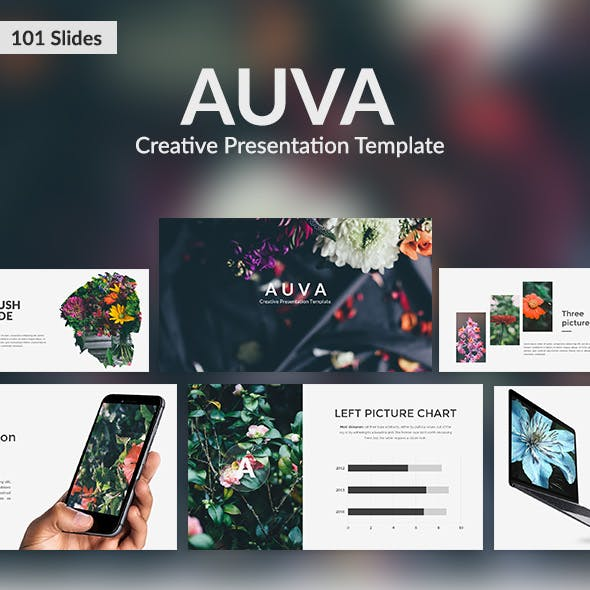 Auva - Creative Keynote Template
