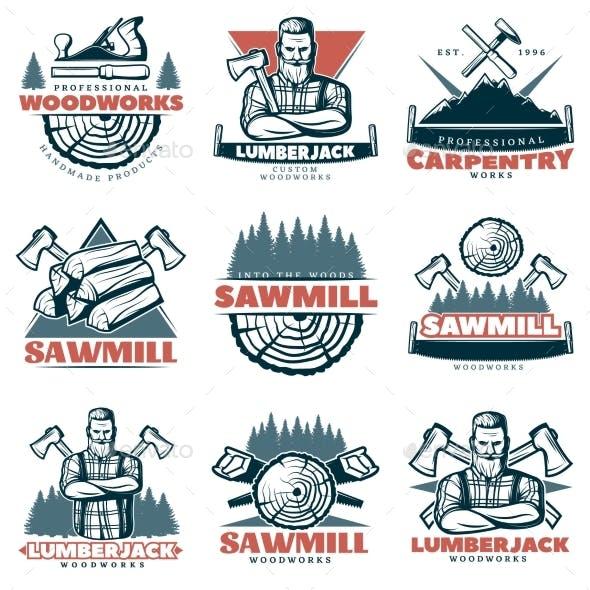 Lumberjack Custom Woodworks Emblems
